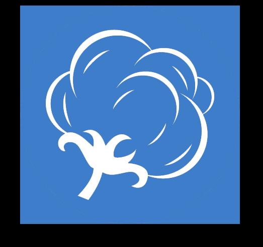 Cotton boll icon to represent the best cotton fibres