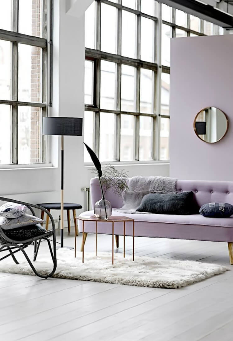 Lavender Interior styled by Bloomingville