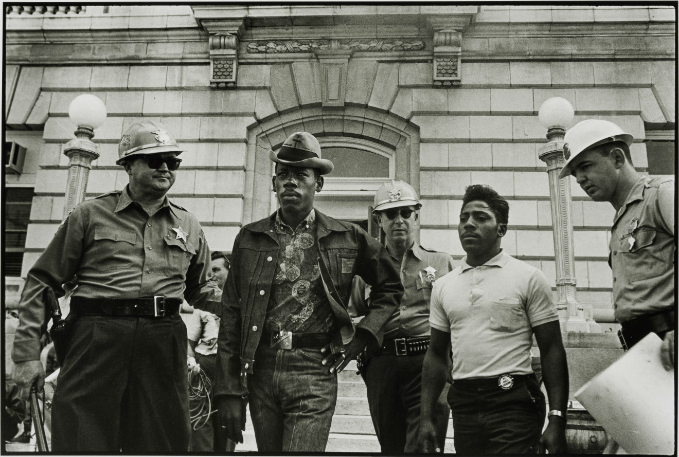 Sheriff Jim Clark arrests two SNCC voter registration workers