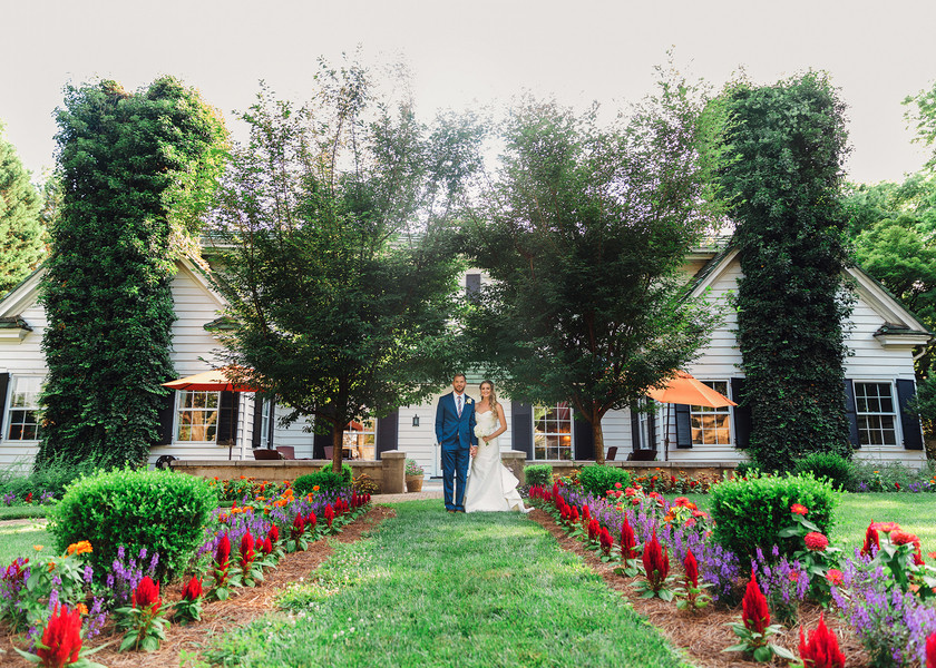 Outdoor ceremony with brewery reception screams personality