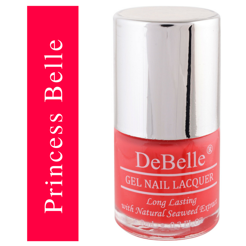 DeBelle coral orange Nail polish
