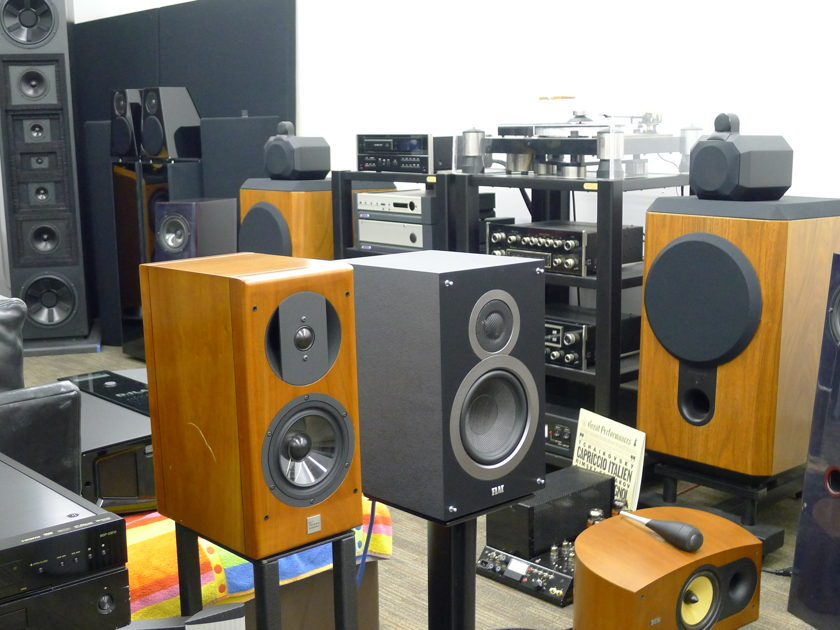 Elac Front Stage Theater Left, Center, Right B6 Monitors & C5 Center  near San Francisco.........