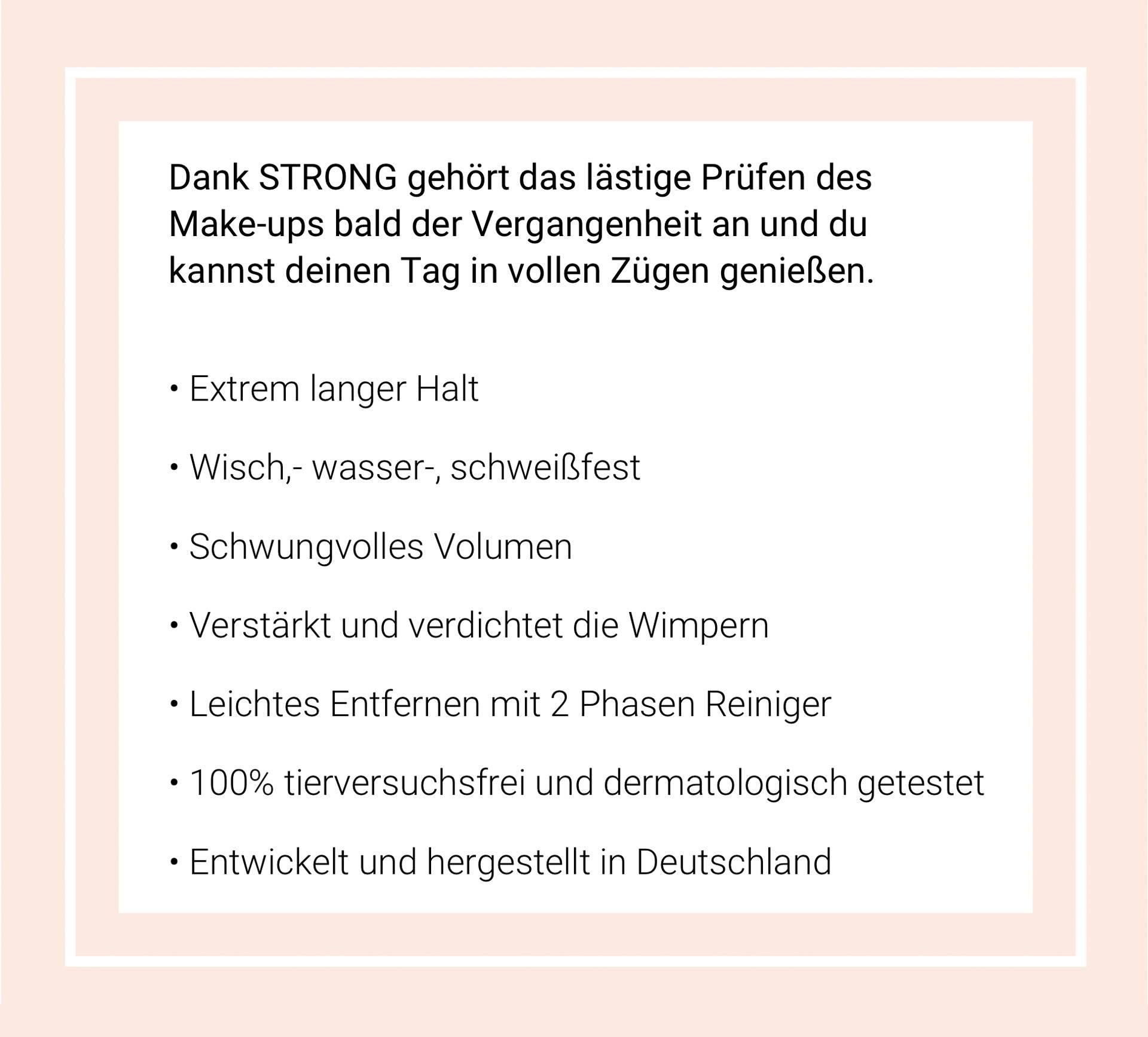 Text über die Vorteile von den Produkten von STRONG
