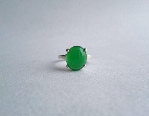 Кольцо с хризопразом,  размер 17,5