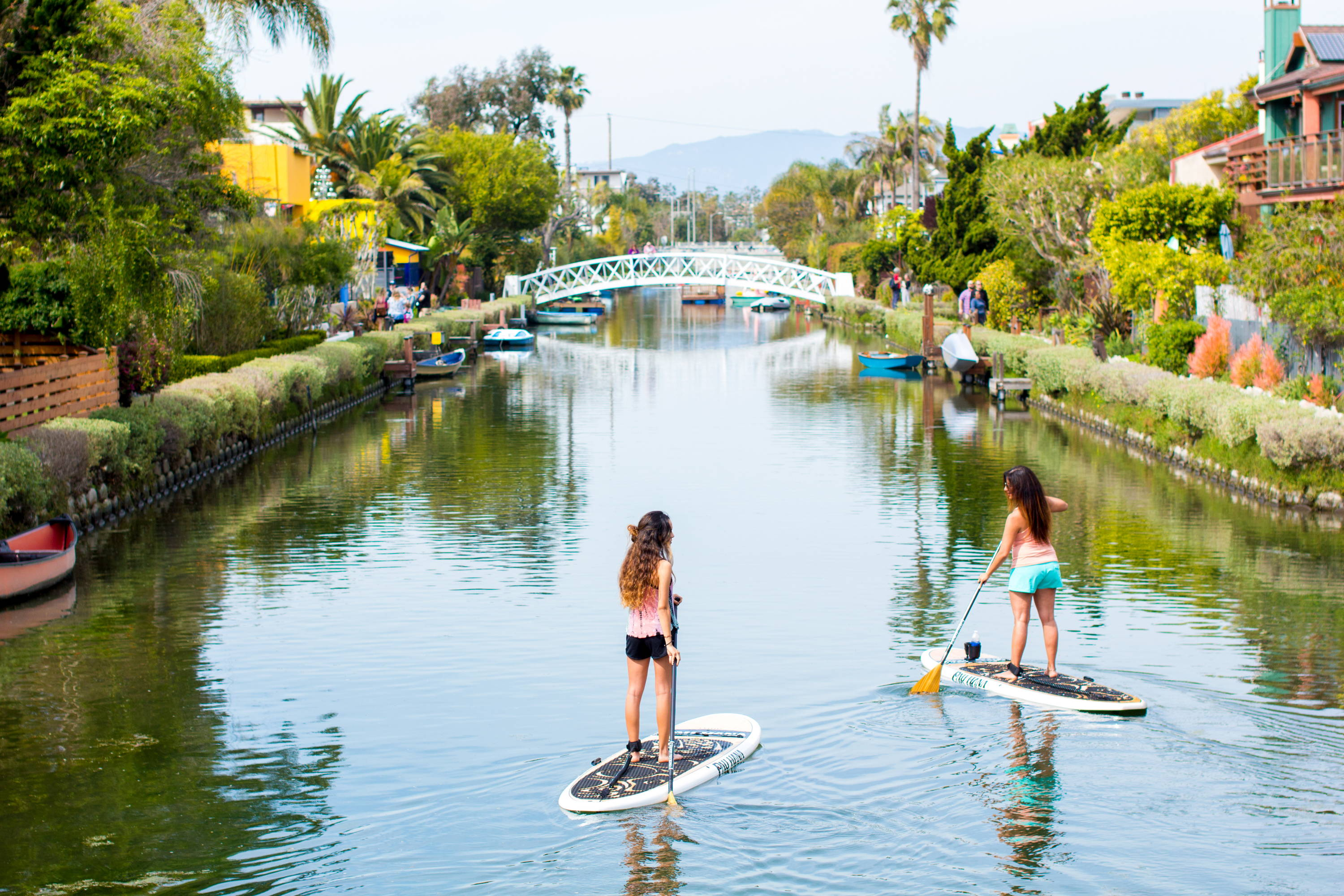 This is the best beginner paddle board.Oahu Pau Hana boards in Venice canals