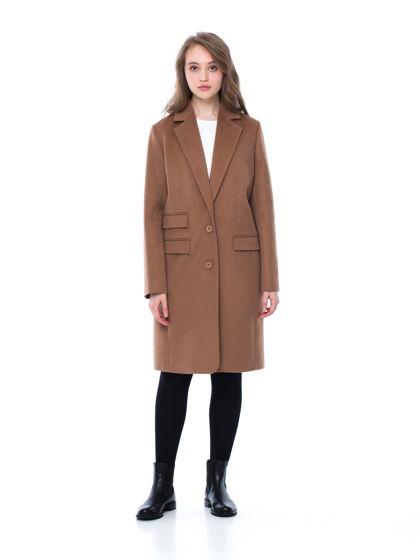 Классическое пальто цвета camel