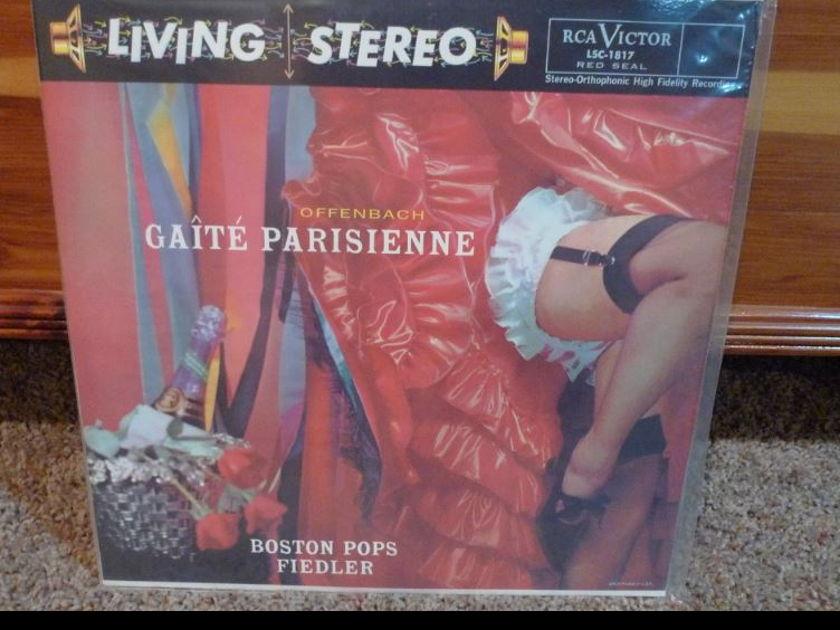 Boston Pops (Fiedler) - Offenbach Caite Parisienne Classic Records original reissue 180G 1990's Sealed