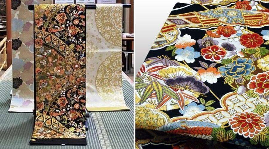 examples of Nishijin-Ori obi belts