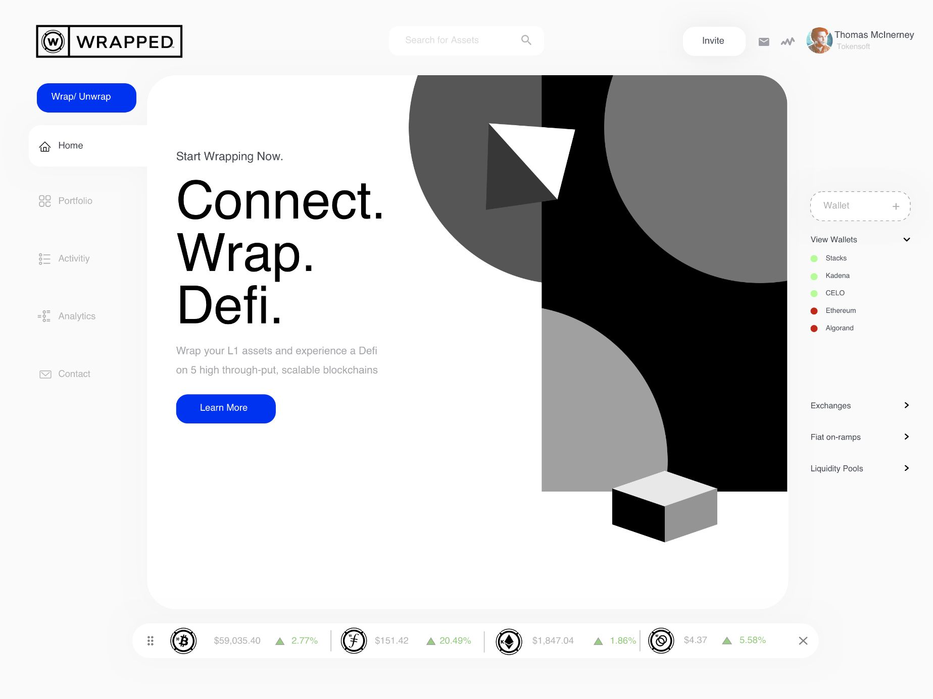 Wrapped app