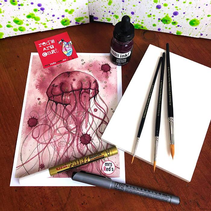Marker - What's inside October 19 Red's Art Cart?