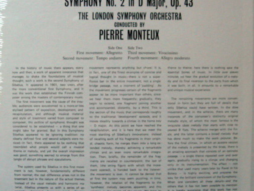 ★Sealed★ London-Decca / - MONTEUX, Sibelius Symphony No.2!
