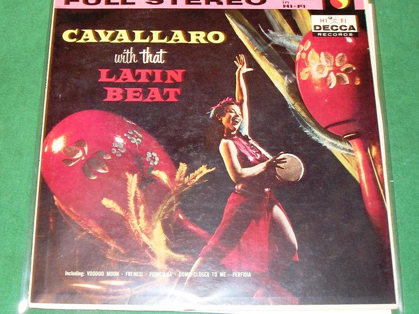 "SEXY - CARMEN CAVALLARO  ""THAT LATIN BEAT"" - DECCA DL 7884 FULL STEREO BANNER *** 9/10 ***"