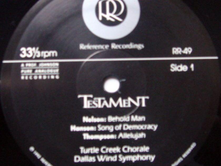 ★Audiophile★ Reference Recordings / TURTLE CREEK CHORALE, - Testament, MINT, 2 LP Set!