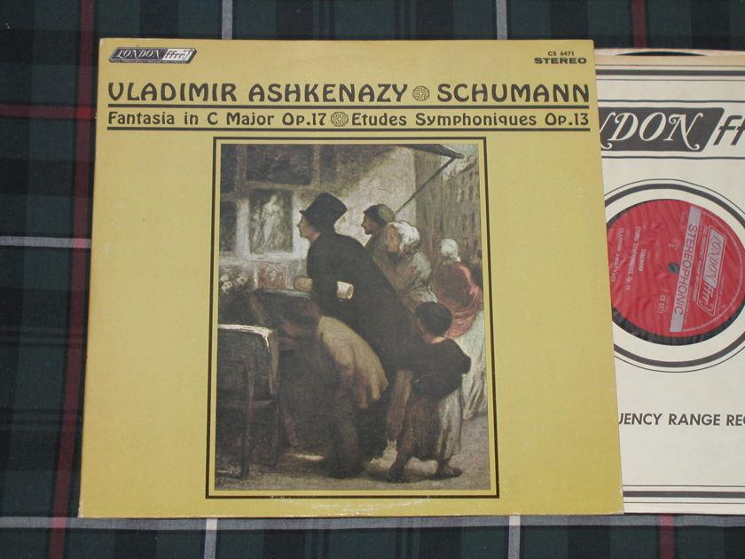 "Vladimir Ashkenazy    Schumann ""Fantasia in C - Major Op.17""+ ""Etudes Symphoniques op.13"" London CS 6471 FFRR from '70s. UK/DECCA pressing"