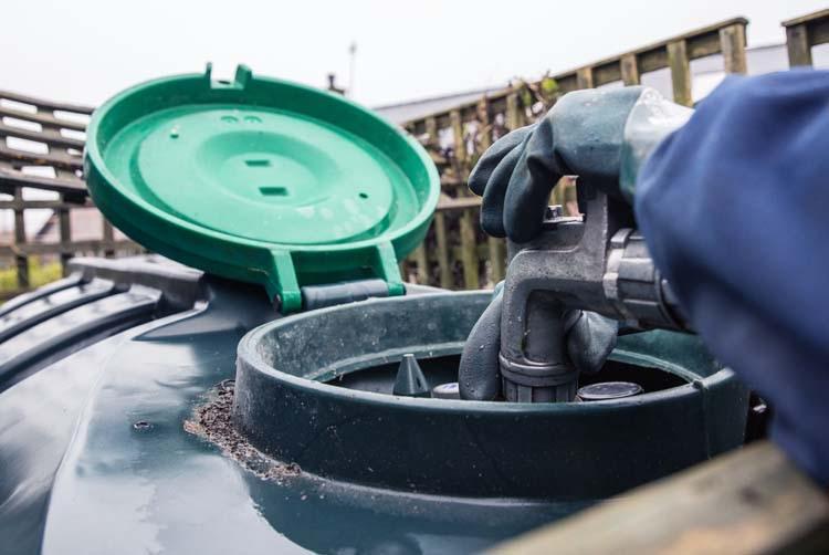 Refilling Oil Tank