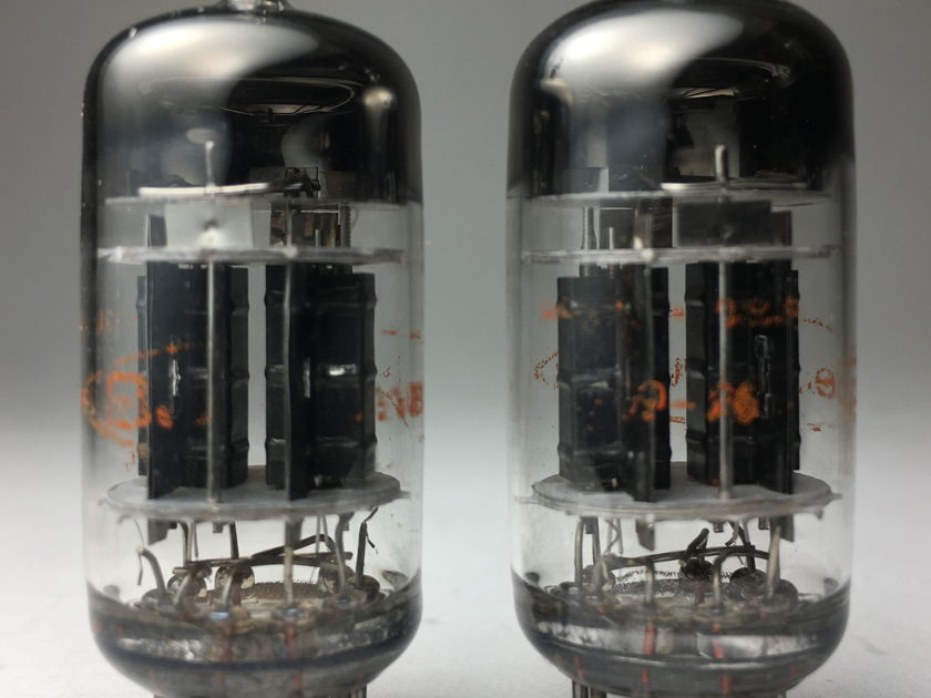 RCA 5751  Amplitrex matched pair Black plate 3 mica 12AX7