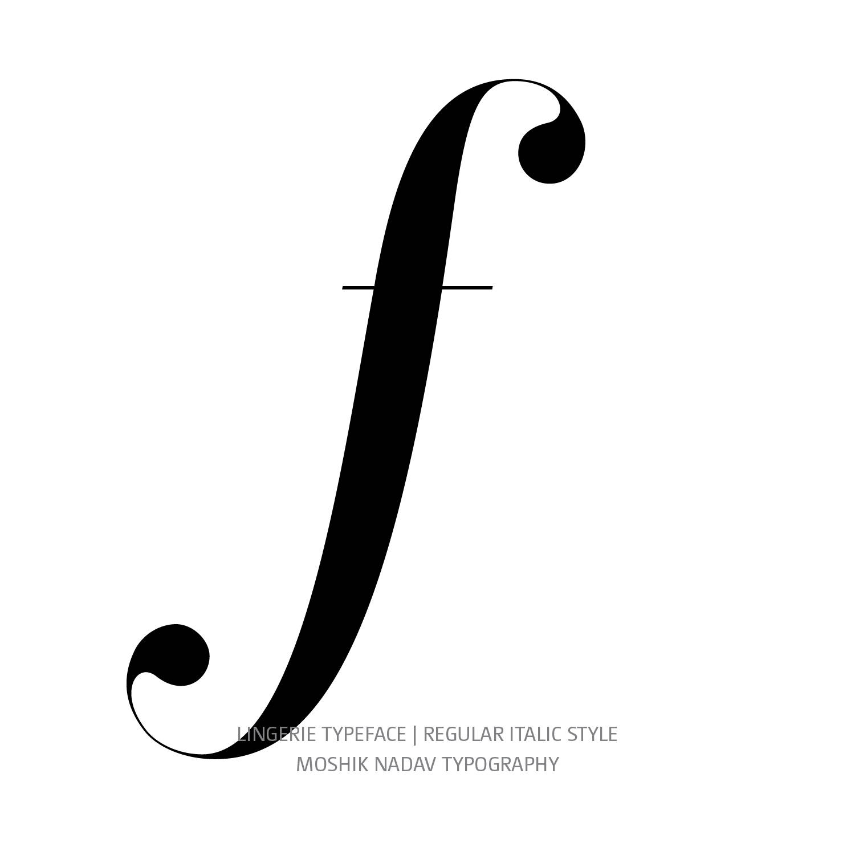 Lingerie Typeface Regular Italic f - Fashion fonts by Moshik Nadav Typography
