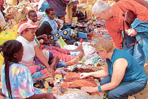 Shopping for amazing African souvenirs at the Maasai Market