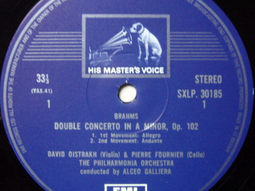 EMI HMV STAMP-DOG / OISTRAKH-FOURNIER, - Brahms Double Concerto, MINT!