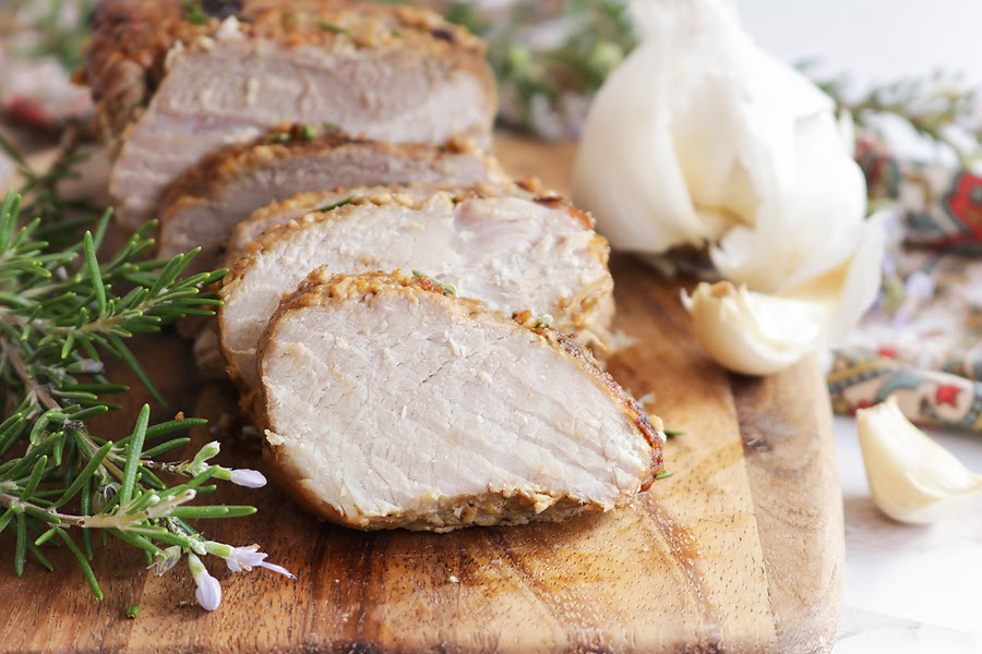 Keto Garlic and Herb Pork Loin Roast