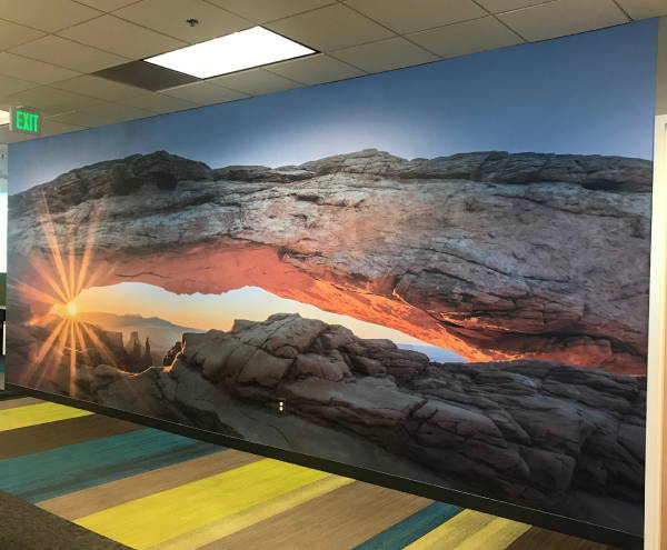 Interior Vinyl Wall Wrap -  Arch With Sunset