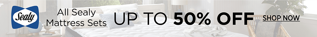 up to 50% off Sealy Mattress Sets