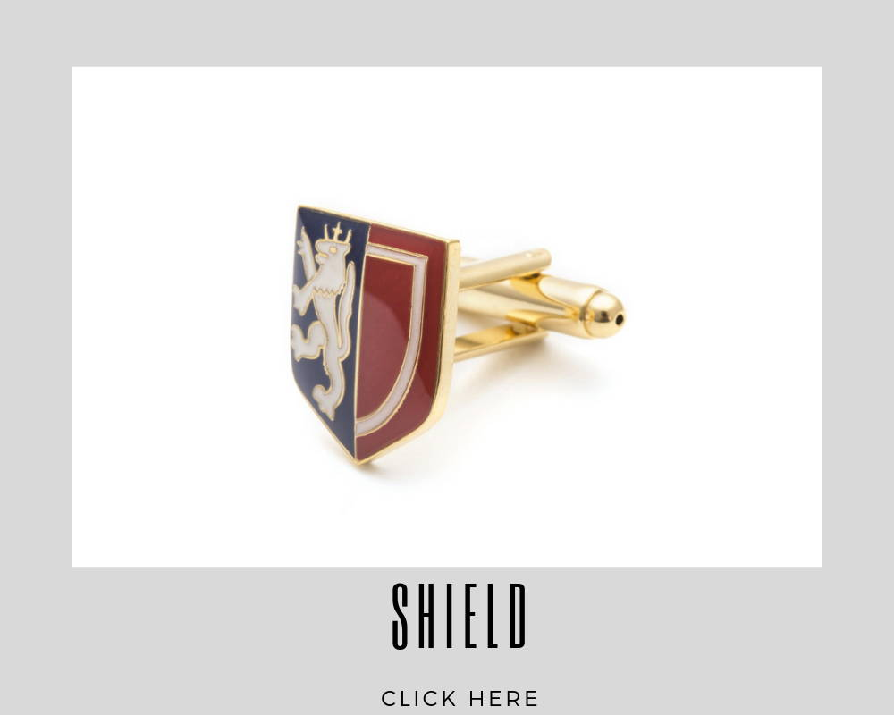 Corporate Custom Shield Cufflinks