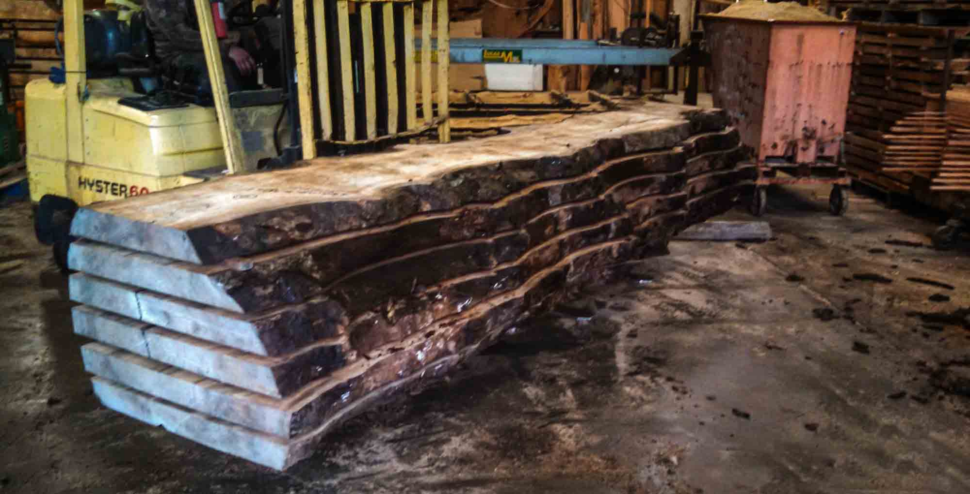 Myrtle wood slabs ready to ship out for your next project