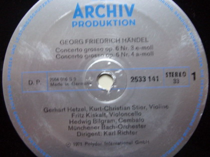Archiv / RICHTER, - Handel 3 Concerti Grossi No.3 & 4, MINT!