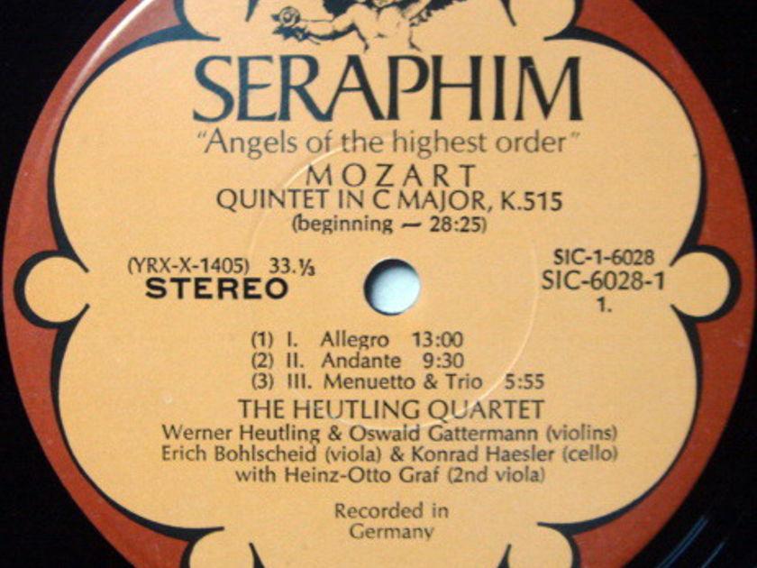 EMI Angel Seraphim / HEUTLING QT, - Mozart The Complete String Quintets, MINT, 3LP Promo Box Set!
