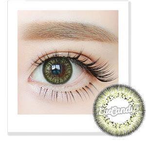 No. 7 Pistachio Green coloured contact lenses