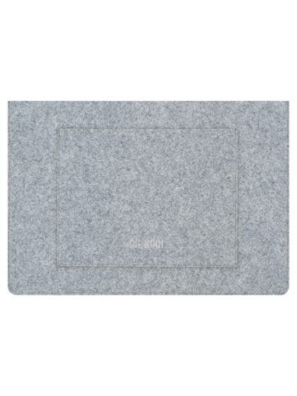 Чехол из фетра для MacBook и ноутбуков, серый, горизонтальный