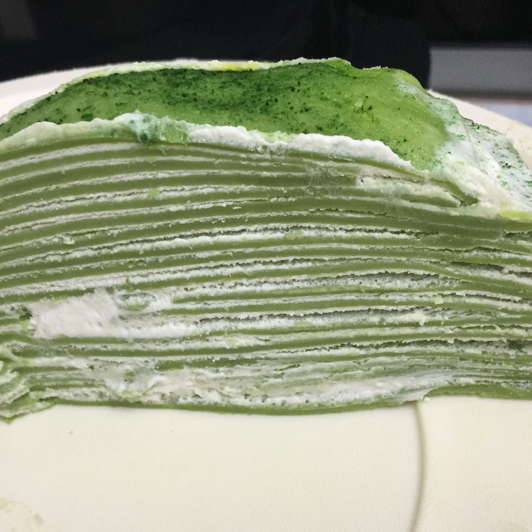 My first time Matcha Mille crepe cake. Never judge a book by its cover. Kikiki. It taste great. ^^