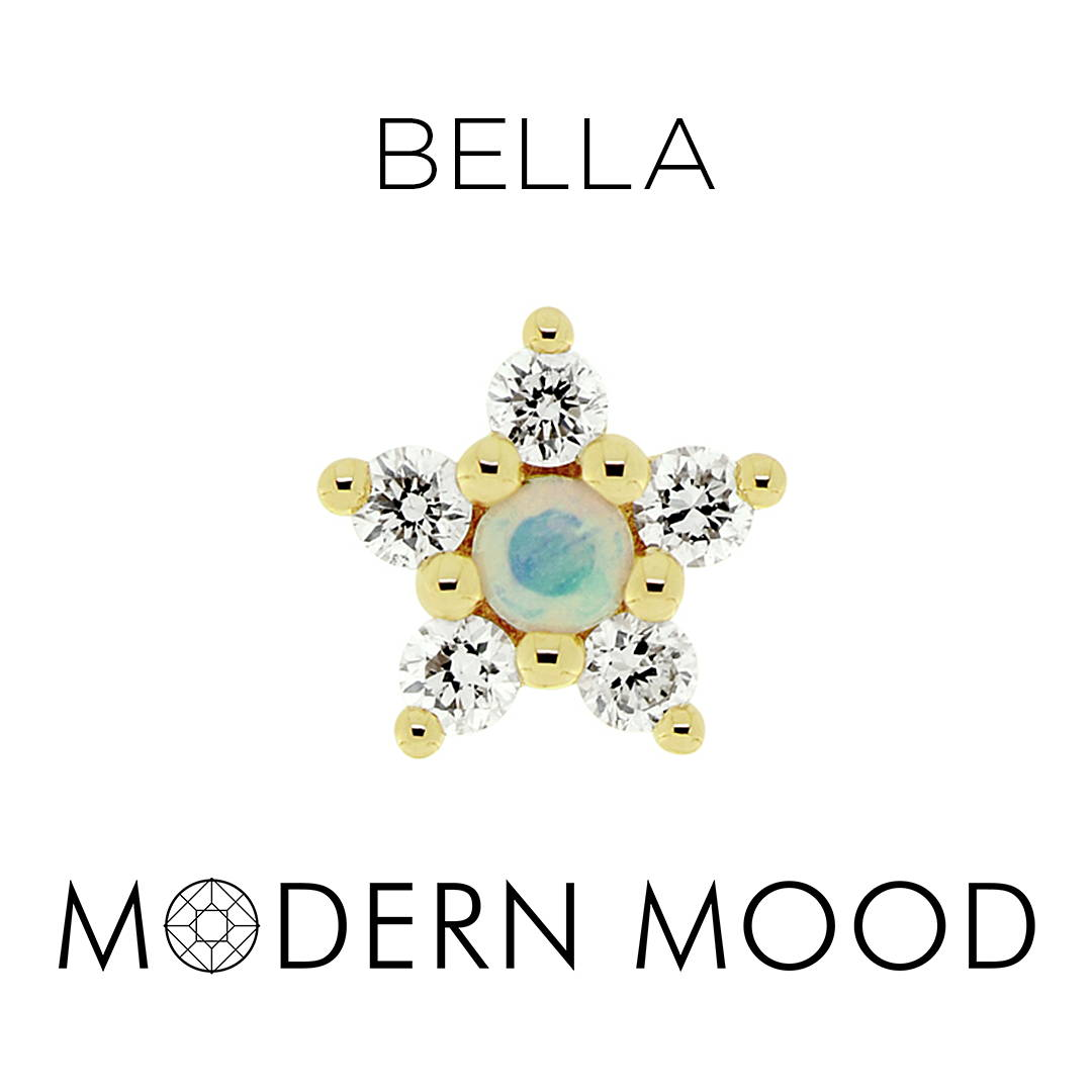 opal star bella piercing jewelry