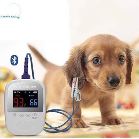 Oxymètre de pouls d'oreille  Bluetooth pour chat et chien