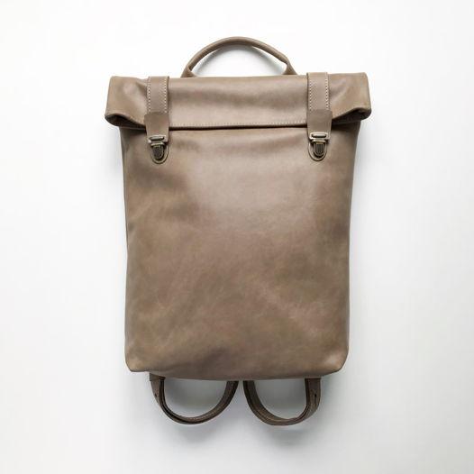 Кожаный рюкзак Vertical Cacao