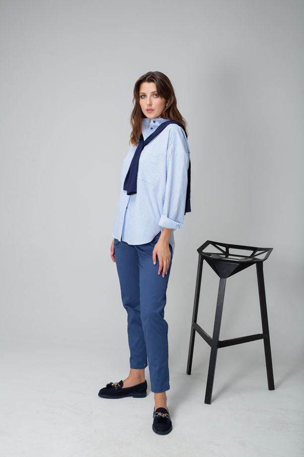 Рубашка оверсайз с карманом арт. 3181006