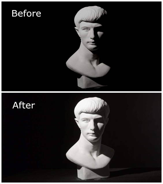 before and after skin beautifying