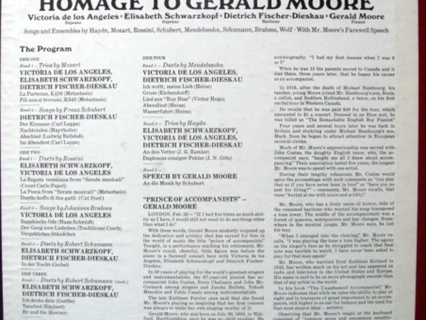 EMI Angel Blue / SCHWARZKOPF, - Homage to GERALD MOORE, MINT, 2LP Box Set!