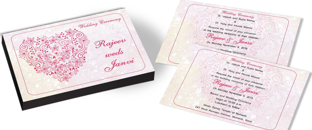 Touched by Love- Heart Theme Invite