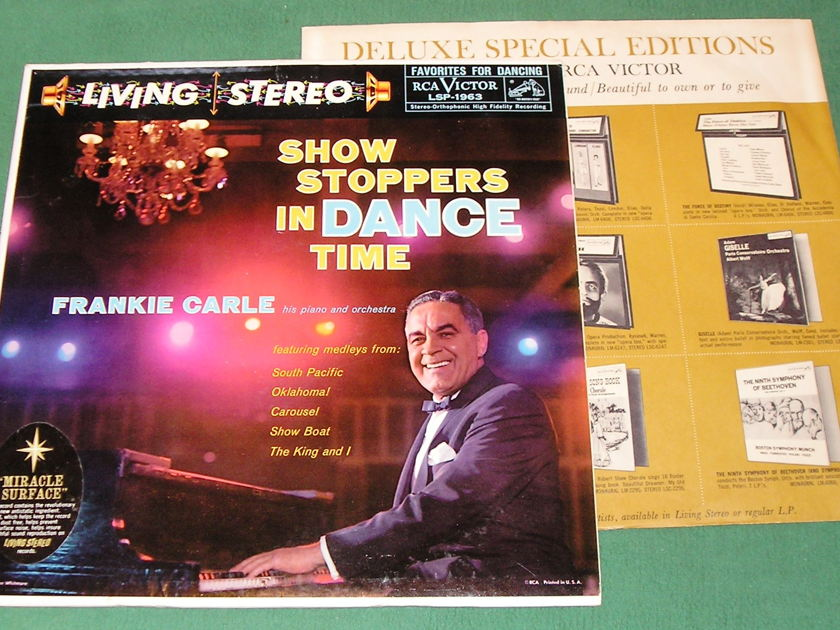 FRANKIE CARLE - SHOW STOPPERS -  - RCA LIVING STEREO BLACK DOG - 1S/A4 6S/A3 I PRESS ** NM 9/10 **