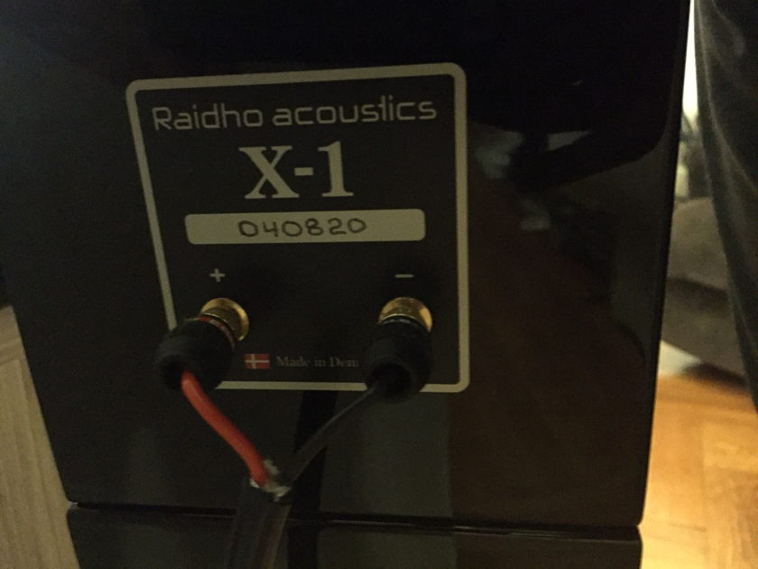 Raidho X-1 Monitors (Pair) with OEM Stands - 2 Months Old (REDUCED)