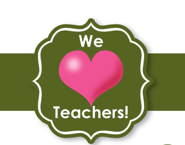 We love teachers poster