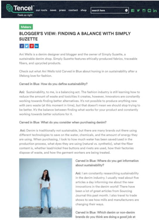 Makers BLOGGER'S VIEW: FINDING A BALANCE WITH SIMPLY SUZETTE Article
