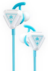 battle buds in-ear gaming headset in white and teal
