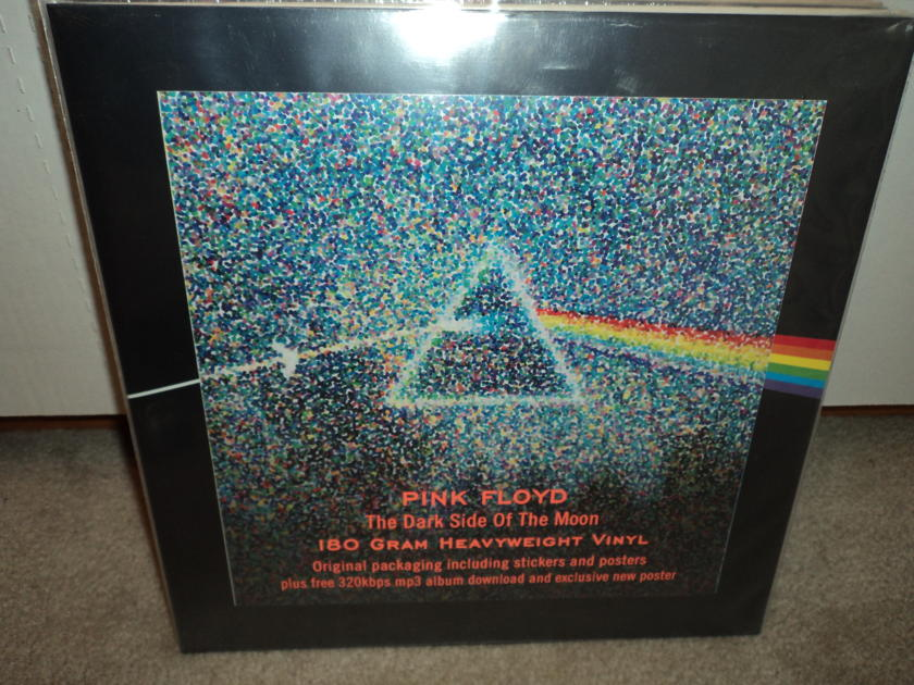 Pink Floyd  - Dark Side Of The Moon (30th Anniversary) w/ Stickers & Poster Audiophile Virgin Vinyl Record Album LP   SEALED BRAND NEW 180 gram