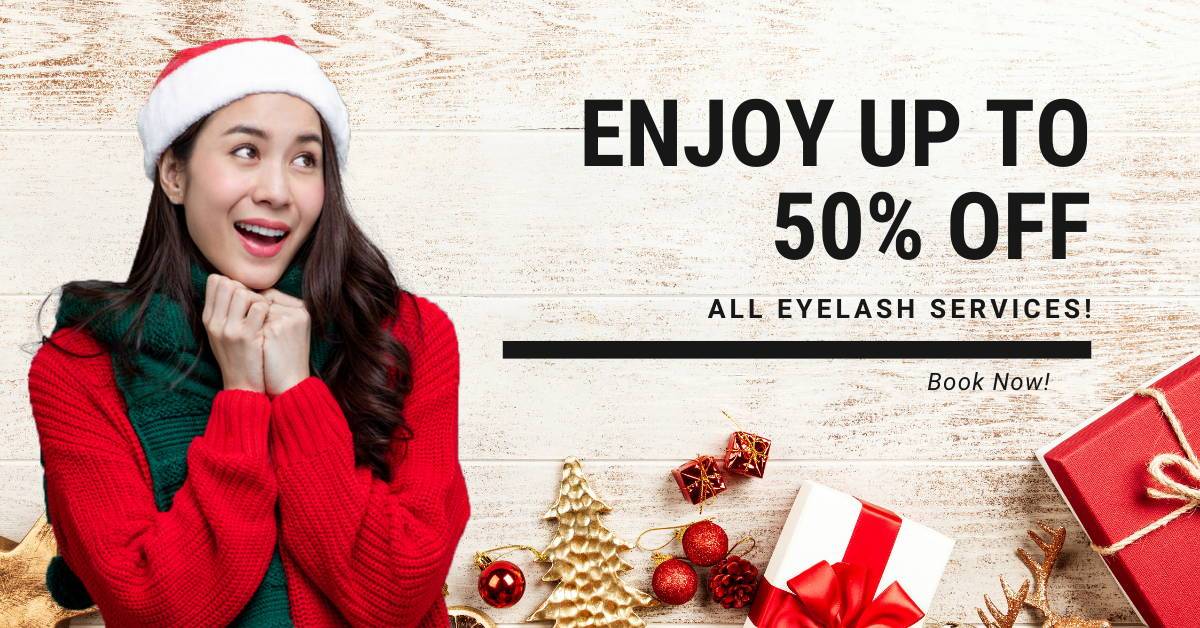 Project Lash Studio Singapore - Year End Sale for premium eyelash services. Enjoy up to 50% off!
