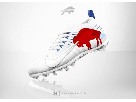 A Personalized Pair of Painted Cleats