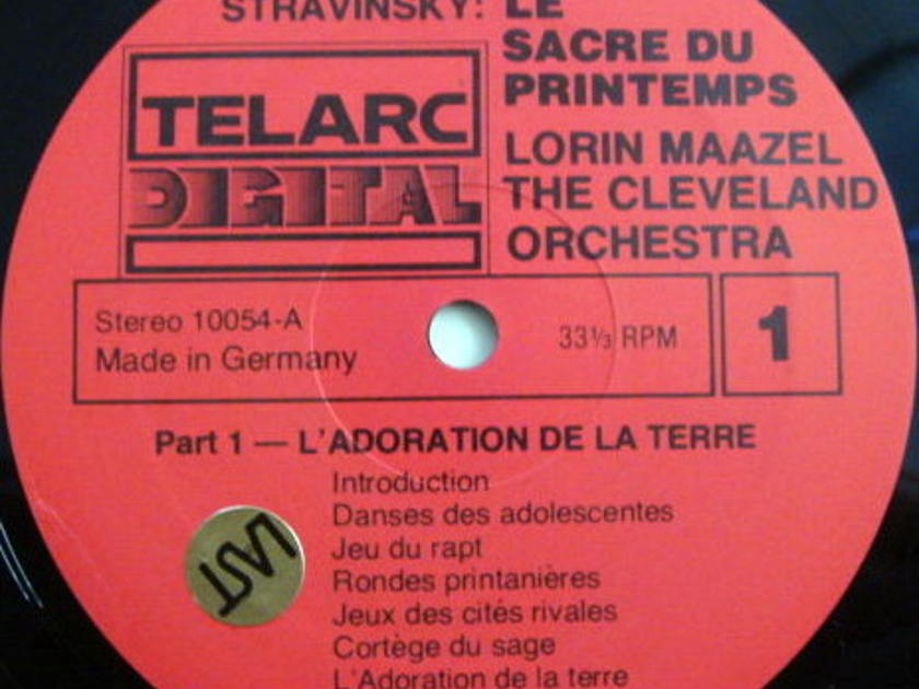 ★Audiophile★ Telarc / MAAZEL, - Stravinsky The Rite of spring, MINT!