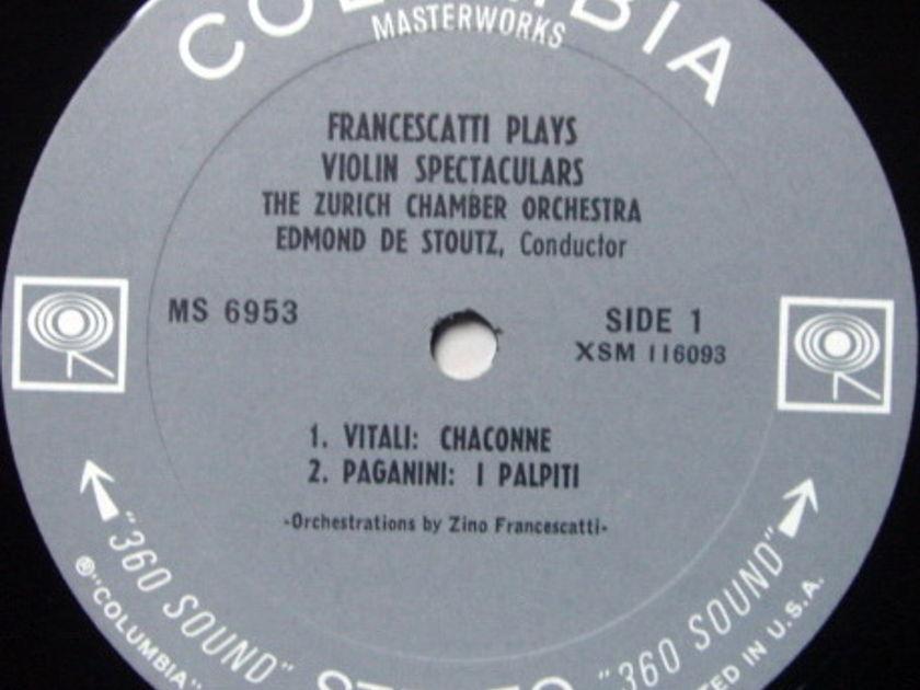 ★1st Press★ Columbia 2-EYE / FRANCESCATTI , - Violin Spectaculars, MINT, Rare Promo Copy!